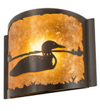 "12""W Loon Wildlife Wall Sconce"