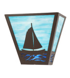 "13""W Sailboat Nautical Wall Sconce"