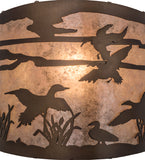 "12""W Ducks in Flight Wildlife Wall Sconce"