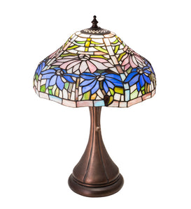 "18""H Poinsettia Fluted Accent Lamp"