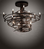 "36""L Cyclone 15 Lt Contemporary Chandelier"