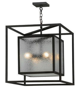 "24""Sq Kitzi Box Contemporary Pendant"