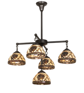 "30""W Pinecone Dome 5 L Chandelier"