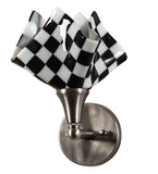 "8""W Handkerchief Grand Prix Modern Wall Sconce"