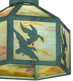 "13""W Ducks Wildlife Fan Light Shade"