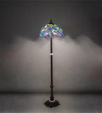 "62""H Tiffany Wisteria Floor Lamp"