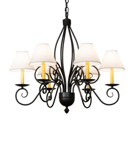 "32""W Squire 6 Lt Traditional Chandelier"