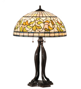 "30""H Tiffany Turning Leaf Table Lamp"
