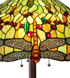 "62""H Tiffany Hanginghead Dragonfly Floor Lamp"