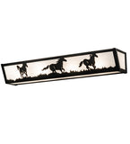 "30""W Running Horses Vanity Light"