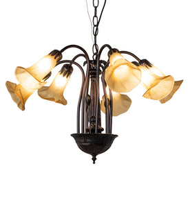 "26""W Tiffany Pond Lily 7 Light Chandelier"