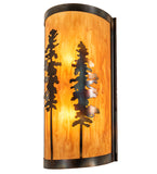 "9""W Tall Pines Wall Sconce"