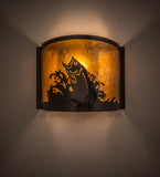"12""W Leaping Bass Wall Sconce"