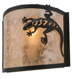 "11""W Southwest Gecko Wall Sconce"