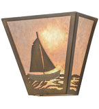 "13""W Sail Boat Wall Sconc"