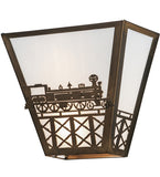 "13""W Train Wall Sconce"