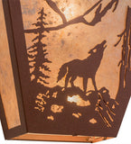 "13""W Northwoods Wolf Wall Sconce"