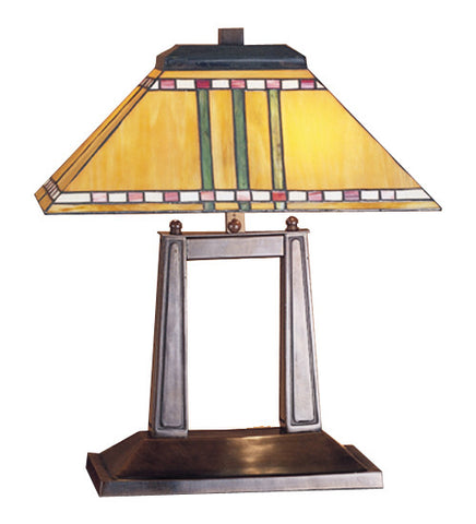 "20""H Prairie Corn Tiffany Oblong Desk Lamp"