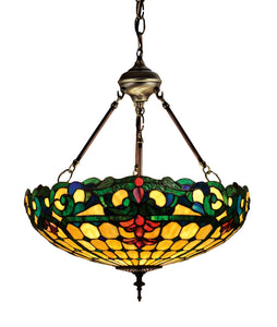 "18""W Duffner & Kimberly Colonial Tiffany Inverted Pendant"