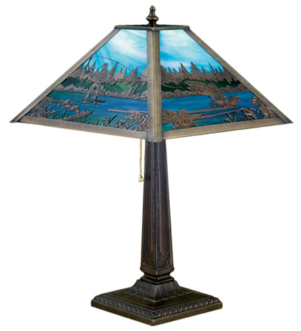 "21.5""H Fly Fishing Wildlife Table Lamp"