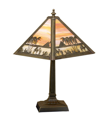 Camel Mission Arts & Crafts Accent Table Lamp
