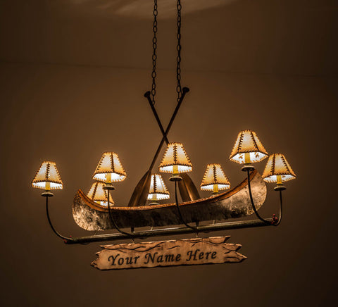 48l personalized canoe 8 lt rustic lodge chandelier ships free 48l personalized canoe 8 lt rustic lodge chandelier aloadofball Image collections