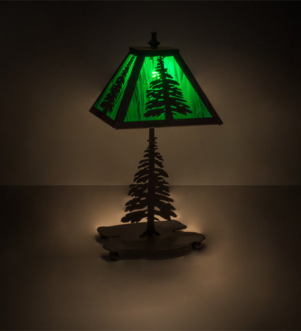 "14""H Tall Pines Rustic Lodge Accent Lamp"
