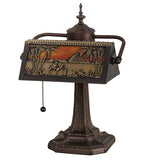 "15.5""H Camel Mission Banker's Desk Lamp"