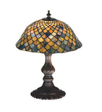 "15""H Tiffany Fishscale Accent Lamp"