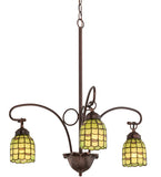 "26""W Sea Scallop 3 Lt Tiffany Chandelier"