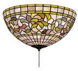 "16""W Turning Leaf Stained Glass Flushmount"