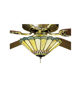 "12""W Tiffany Jadestone Carousel Fan Light Fixture"