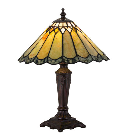 "15.5""H Jadestone Carousel Tiffany Accent Lamp"