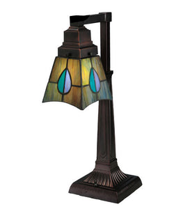 "19.5""H Tiffany Mackintosh Leaf Desk Lamp"