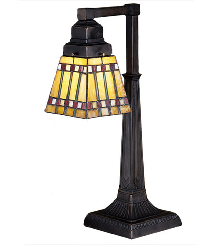 "20""H Prairie Corn Stained Glass Desk Lamp"