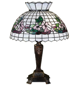 "22""H Tiffany Dogwood Table Lamp"