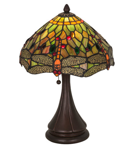 "18""H Tiffany Hanginghead Dragonfly Table Lamp"