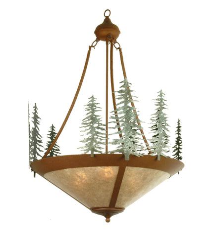 "24""W Lodge Tall Pines Inverted Pendant"