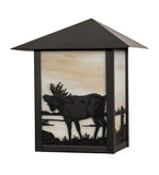 "9""W Seneca Moose Wildlife Wall Sconce"