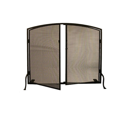 "40""W X 32""H Prime Arched Metal Fireplace Screen"