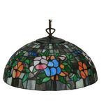"15.75""W Stained Glass Pansy Pendant"