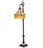 "59""H Victoria Victorian Fringe Bridge Arm Floor Lamp"