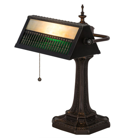 "13""H Bankers Gothic Mission Desk Lamp"