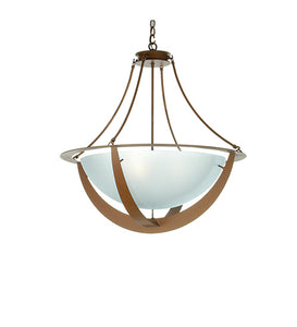 "31""W Saturn Contemporary Inverted Pendant"