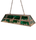 "48""L Northwoods Wolf At Lake Island/Billiard Pendant"