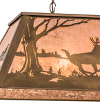 "33""L Deer At Lake Island/Billiard Pendant"