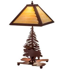 "21""H Moose On The Loose Wildlife Table Lamp"