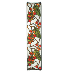 "9""W X 42""H Bittersweet Sidelight Stained Glass Window"