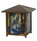"13""H Maxfield Parrish The Glen Lantern Accent Table Lamp"