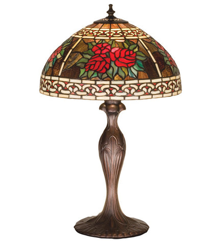 "22.5""H Roses & Scrolls Floral Table Lamp"